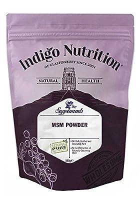 Indigo Herbs MSM Crystal Powder 500g (Methylsulfonylmethane)