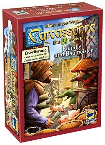 Asmodee Carcassonne - Händler und Baumeister, 2. Erweiterung, Familienspiel, Strategiespiel, Deutsch