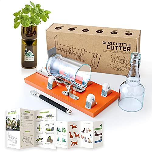 Bloomoak Coupe-bouteille professionnel en verre, coupe-bouteille et coupe-verre, kit de machine de bricolage avec...