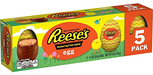REESES, Milk Chocolate Peanut Butter Creme Egg Candy, Easter, 1.2 oz, Pack, 5 Count