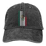 N \ A Gorra de béisbol ajustable de la bandera mexicana americana Casqueta de béisbol clásico sombreros accesorios sombrero de sol unisex sombrero de papá negro