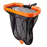 Monkeyking Professional Heavy Duty 18' Swimming Pool Leaf Skimmer Rake with Deep Double-Stitched Net Bag and Quick Install Button, Strong Frame for Faster Cleaning & Easier Debris Pickup and Removal