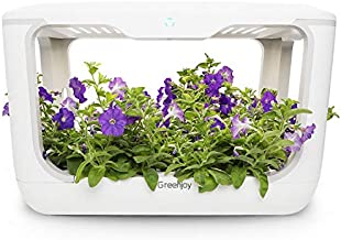 Greenjoy Indoor Herb Garden Kit, Hydroponics Growing System, Plant Germination Kits, 8L Water Tank, Air and Water Circulation, Home Kitchen Grow Gardening Planter for Herbs, Vegetables, Flowers