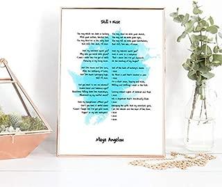 AprilLove Still I Rise, Still I Rise Art, Still I Rise Wall Art, Still I Rise Print, Still I Rise Poem, Maya Angelou Still I Rise Poem Watercolor Art.