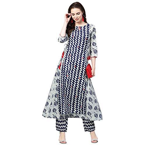 Jaipur Kurti Women's Cotton A Line Salwar Suit Set