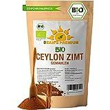CEYLON ZIMT BIO (500g) | Zimt Pulver BIO arm an Cumarin 100% echtes Zimt Ceylon | Premium Qualität abgefüllt und kontrolliert in Deutschland (DE-ÖKO-006) | Verpackung ohne Aluminium Dean's Premium