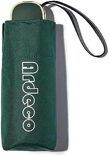 Household Umbrella Rain and Rain Black Rubber UV Sun Umbrella Ultra Light Mini Pocket Umbrella Five Colors Huhero (Color : Green)