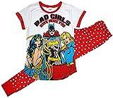 Lora Dora - Pijama para mujer, diseño de Supergirls, color blanco y rojo
