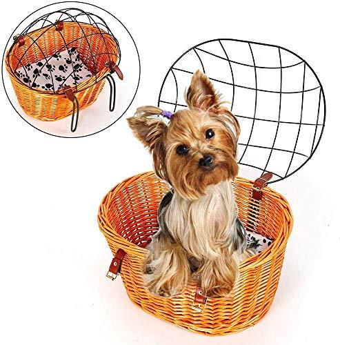 Relaxbx Fietsmand voor huisdieren Fietsmand stuur mand fijn gaas opvouwbare voorfiets mand stuur fiets mand voor hond transport mand