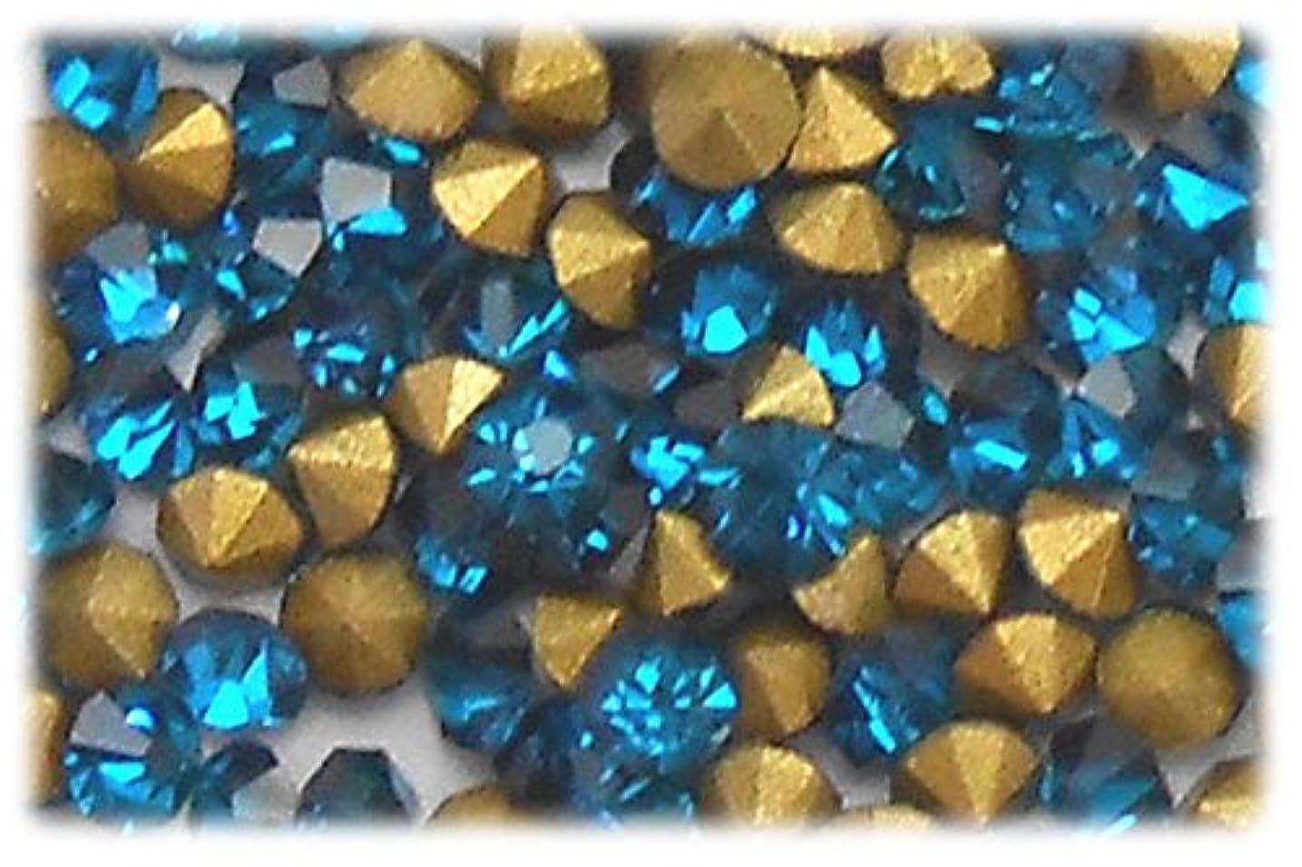 市長チーズ変動するラインストーン ブルー 1セット(144個入り)X3 サイズ約2.0mm blu-ss6