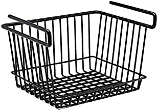 SnapSafe Hanging Shelf Large Basket, 76011 - Coated Wire Basket Maximizes Storage for Documents, Gun Accessories, & Ammo - Easy Access Under Shelf Storage for Gun Safes - Holds Up to 40 Pounds