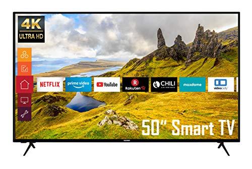 Telefunken XU50K521 50 Zoll Fernseher (4K Ultra HD, HDR, Triple-Tuner, Smart TV, Works with Alexa) [Modelljahr 2021]