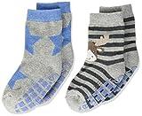Sterntaler Baby Jungen Abs-söckchen Dp Elch Socks, Hellgrau Mel., 24 EU