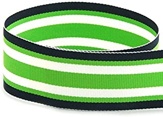 green and white striped ribbon
