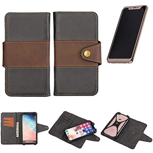 K-S-Trade® Handy-Hülle Schutz-Hülle Bookstyle Wallet-Case Für -Doogee V- Bumper R&umschutz Schwarz-braun 1x