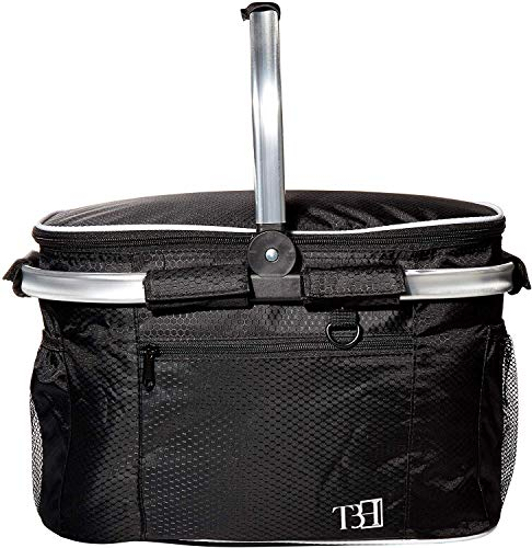 Cheapest Prices! TBH Insulated Picnic Basket Cooler, Advanced Sense Design, Extra Large Sized,Lunch ...