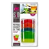 SAVEUR ET Degustation KM4091 Repose Sachet de thé à Suspendre, Plastique, Multicolore, 5,9 x 2,6 x 4,5 cm