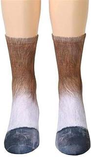 whmyz, Viernes Negro Moda Unisex Adultos Niños Pies 3D Impreso Calcetines de Tubo Medio Transpirables Calcetines