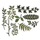 Sizzix Thinlits Troqueles 9PK Verdes del jardín