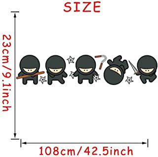 CYSDN Self-Adhesive Wallpaper Ebay Hot Cartoon Ninja Wall Stickers Combination Children's Bedroom Home Decoration PVC Self-Adhesive Cs5182Cs5182 (23108 cm)