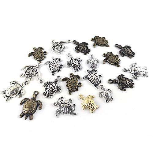 Tibetanische Schildkröte Charme/Anhänger Vielfarbig 5-40mm Paket Von 30g