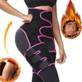 TOOVREN 2021 Upgraded Waist and Thigh Trainer for Women Butt Lifter Waist Trainer Workout Sweat Belt(Red Rose, M)