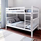 Max & Lily Solid Wood Full over Full Bunk Bed, White