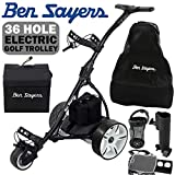 Ben Sayers ELECTRIC GOLF TROLLEY +36 HOLE BATTERY +£100 FREE ACCESSORIES/BLACK