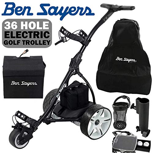 Ben Sayers ELECTRIC GOLF TROLLEY +36 HOLE BATTERY +£100 FREE...