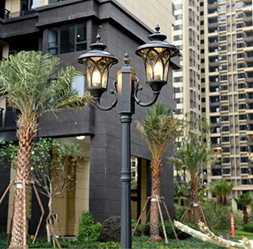 XXLYY Luz de calle de poste alto E27 Luz de exterior fundida a presión Luz de poste de patio Villa Jardín Luz de poste de aluminio Luz de calle de poste alto Iluminación impermeable de la comunidad Fa