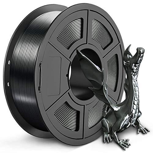 Silk PLA+ Filament 1.75mm, SUNLU Shiny PLA Plus 3D Printer Filament, Dimensional Accuracy +/- 0.02mm, 1kg Spool(2.2lbs), Silky 1.75 PLA Pro, Schwarze Jade