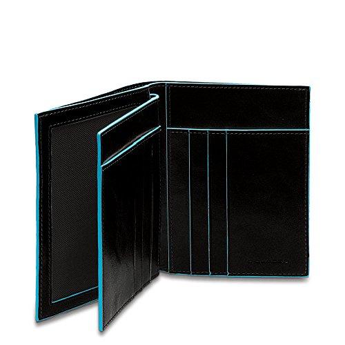 Piquadro PU1129B2/N Blue Square Portafoglio, Nero, 12 cm