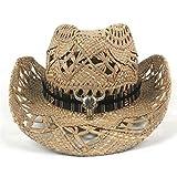 zlhcich Hut Band Hut Preise Hüte Leben Günstige Cowboy-Hut mit Mode Gürtel Sommer Sun Lifeguard Hombre Sombrero Caps Größe 56 58 C20