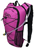 Andes 2 Litre Bright Pink Hydration Pack/Backpack Running/Cycling with Water Bladder/Pockets
