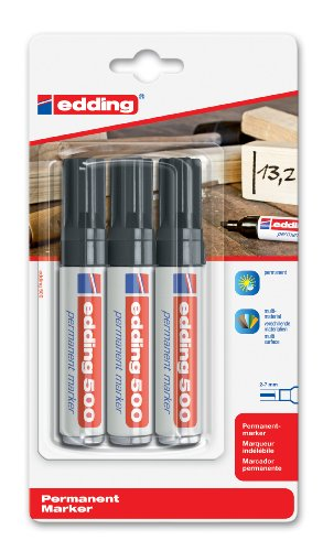 edding 4-500-3-1001 Permanentmarker, nachfüllbar, 2 - 7 mm, schwarz