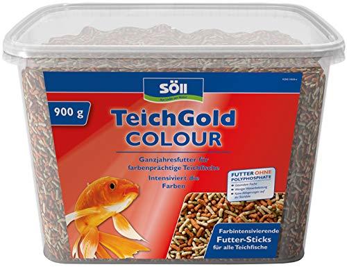 Söll 18805 TEICH-GOLD Colour-Sticks Hauptfutter 7 Liter - Proteine, Vitamine und Spurenelemente für ausgewogene Ernährung, Fischgesundheit und Fischvitalität zum Füttern im Gartenteich