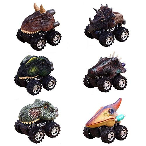 GZCY Christmas Gifts Toys for 2-9 Year Old Boys, Pull Back Dinosour Cars for Boys Birthday Present Toy Car for Kids Age 2-9 Push & Pull Toys for Toddlers Infant (6 packs)