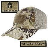 Gadsden and Culpeper Kryptek-Highlander Tactical Patch & Mesh Hat Bundle (Molon Labe)
