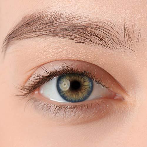 Stark deckende, natürliche Kontaktlinsen in der Farbe Passion Blue, aus der PREMIUM Kollektion geeignet für dunkle Augen, Silikon Hydrogel der Marke LUXDELUX