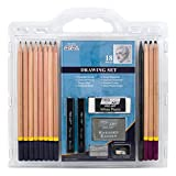PRO ART Pencil Set Sketch & Draw, 9.38' x 9.38' x 0.25', Graphite & Charcoal