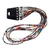 P Prettyia 10x Correa para Gafas de Sol Lentes Cuerda de Algodón Estilo Étnico - Eyeglasses String Lanyard Holder - Multicolor, una talla