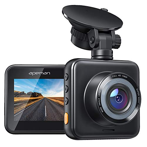 APEMAN Mini Dash Cam 1080P Dash Camera for Cars Recorder Super Night Vision, 170° Wide Angle, Motion Detection, Parking Monitoring, G-Sensor, Loop Recording