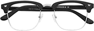 Vintage Semi-Rimless Clear Glasses Fake Nerd Horn Rimmed Eyeglasses Frame For women wen