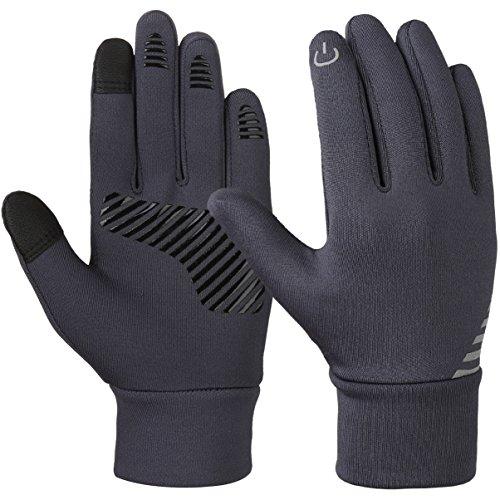 Winter Handschuhe kinder Fahrradhandschuhe Touchscreen - Anti-Rutsch Winddichte Radhandschuhe Herbst früher Winter Laufen Winterhandschuhe Junge Mädch für Outdoor Sport fahrrad 4-12 jahre