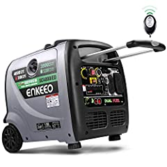DUAL FUEL OUTPUT: EPA and CARB compliant 223cc 4-stroke OHV engine produces 4000 peak watts and 3500 rated watts; 1600mAh Li-ion battery generator powered by gasoline or propane LOW VIBRATION NOISE: adopts advanced soundproof cotton cushioning system...