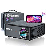 WiFi Bluetooth Projector,WiMiUS K1 8000 Lumen Video Projector Native 1920x1080 Full HD Support 4K with ±50° 4D Zoom Keystone Correction for PPT Presentation, iOS, Android,PS4 (Projector Bag Included)