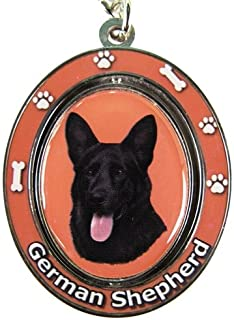 German Shepherd, Black Key Chain