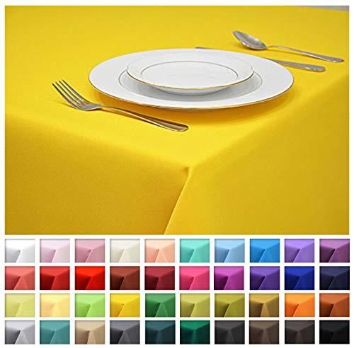 Rollmayer Tischdecke Tischtuch Tischläufer Tischwäsche Gastronomie Kollektion Vivid (Gelb 5, 80x80cm) Uni einfarbig pflegeleicht waschbar 40 Farben