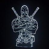 3D Nachtlichter LED Tischlampe Marvel Hero Deadpool Tisch Rgb Lampara Lava Kind Junge Spielzeug Geschenk Schlafzimmer Weihnachten Schlafen Licht Dekoration