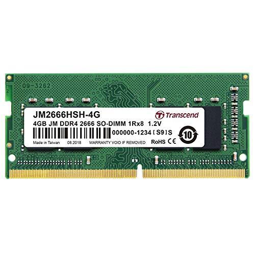 Transcend ノートPC用メモリ PC4-21300 (DDR4-2666) 4GB 260pin SO-DIMM 1.2V 1Rx8 (512Mx8) CL19 JM2666HS...